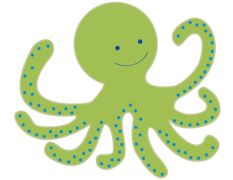 Octopus free images clipartix. Green clipart squid