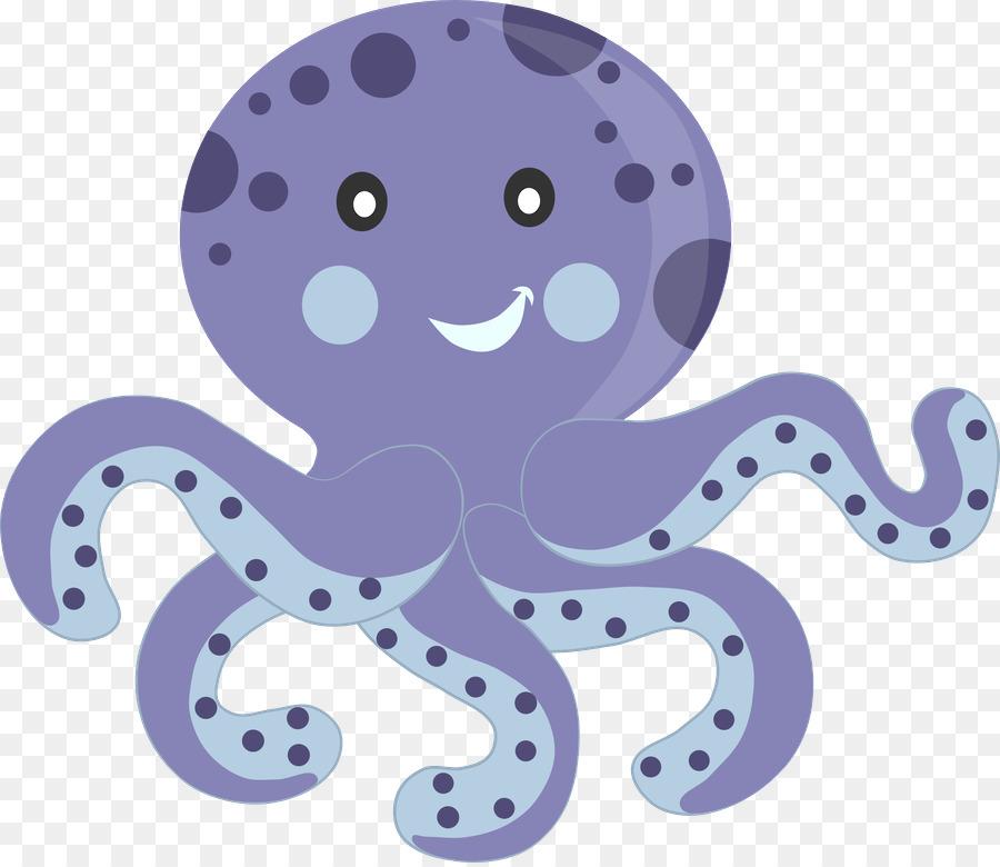 Clipart octopus cute underwate animal. Cartoon sea transparent