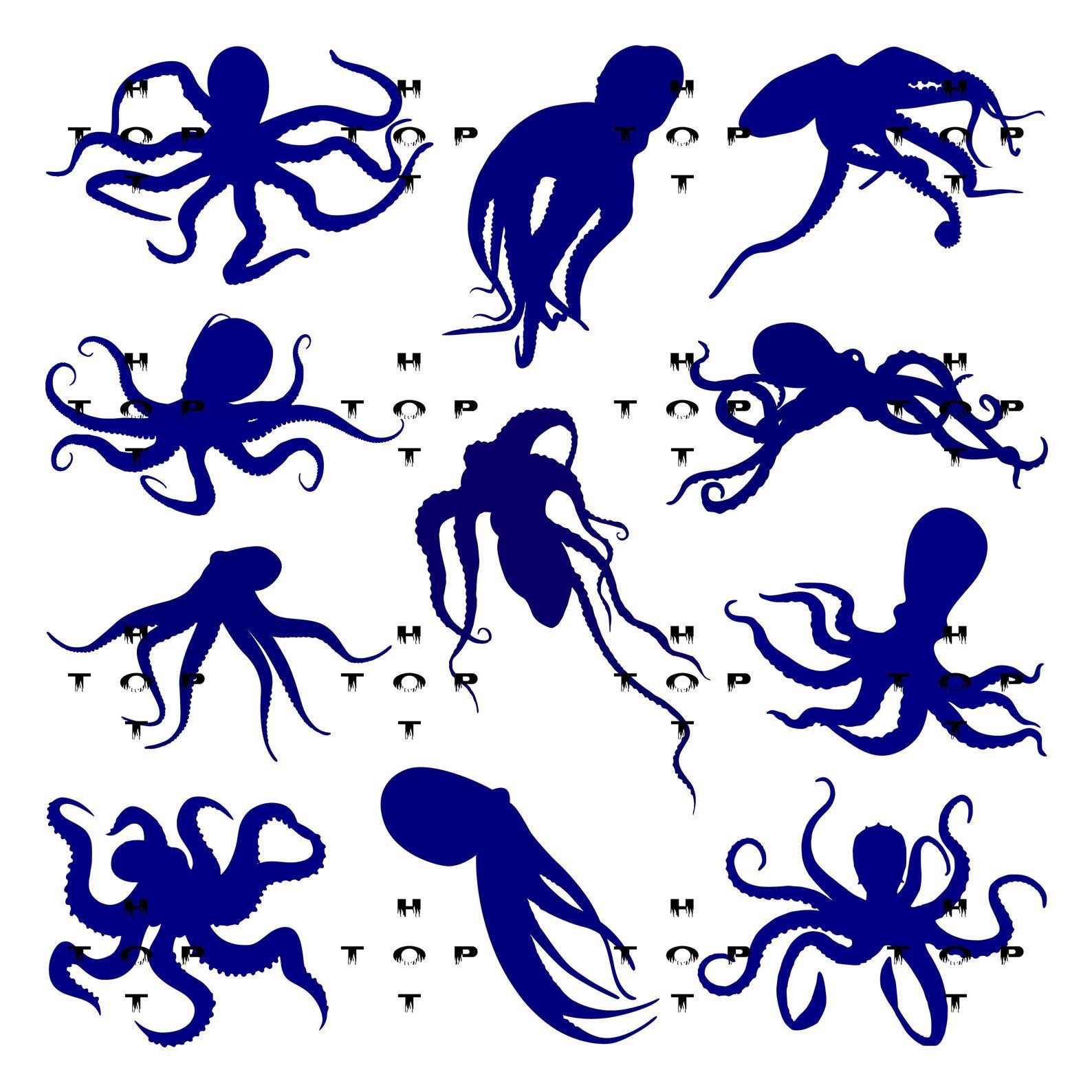 Clipart octopus friendly. Silhouette art digital