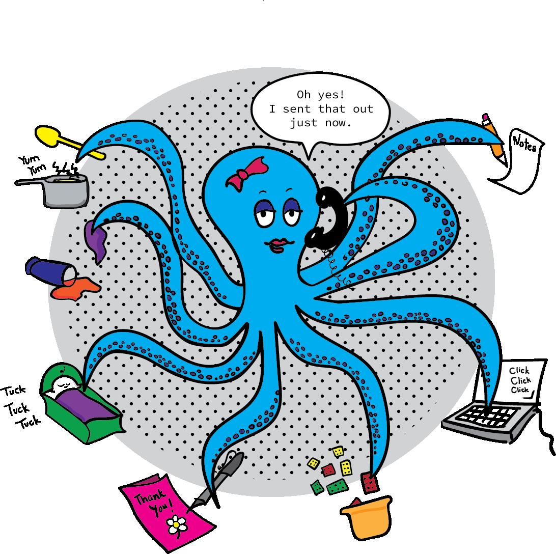 Clipart octopus good morning. Baby blastoff blog dear