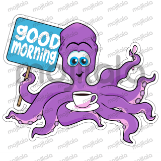 Clipart octopus good morning. Well noted but emojis