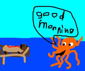 Kim possible drawception . Clipart octopus good morning