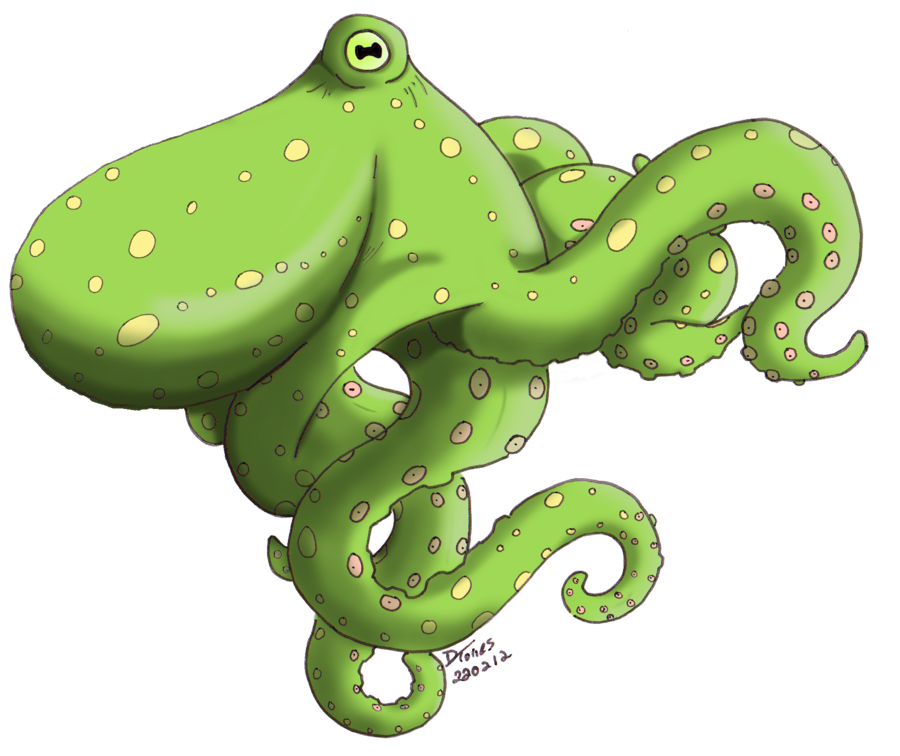 By towers aki on. Clipart octopus green octopus