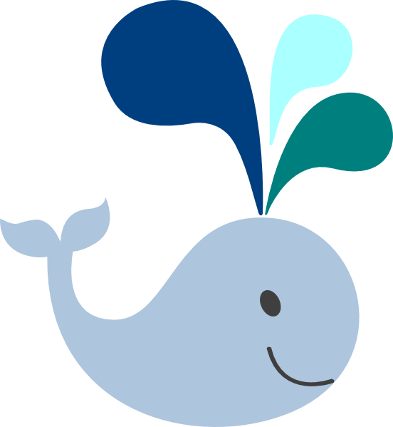 Clipart whale real whale. Baby blue clip art