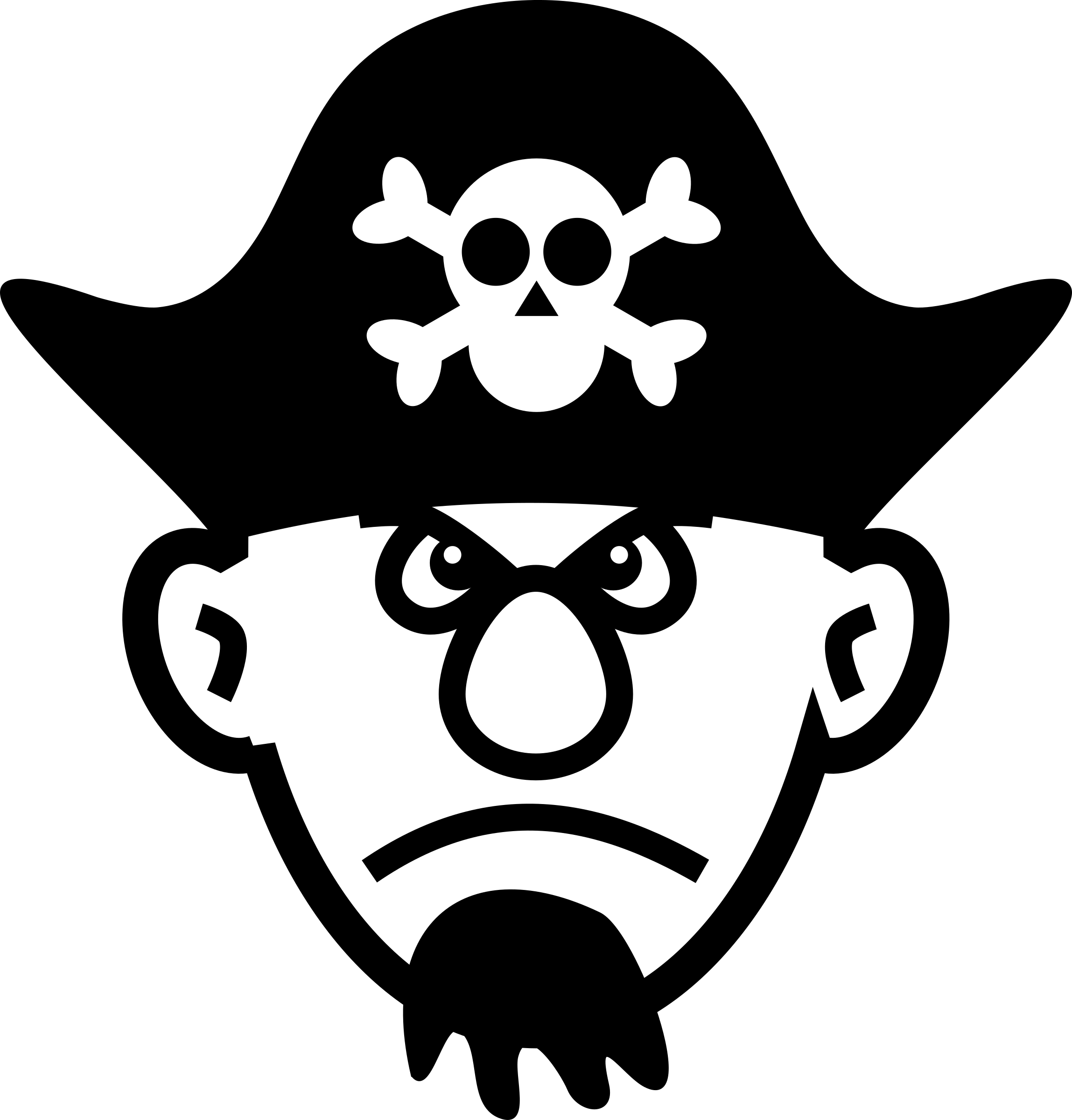 Angry young pirate big. Clipart octopus mad