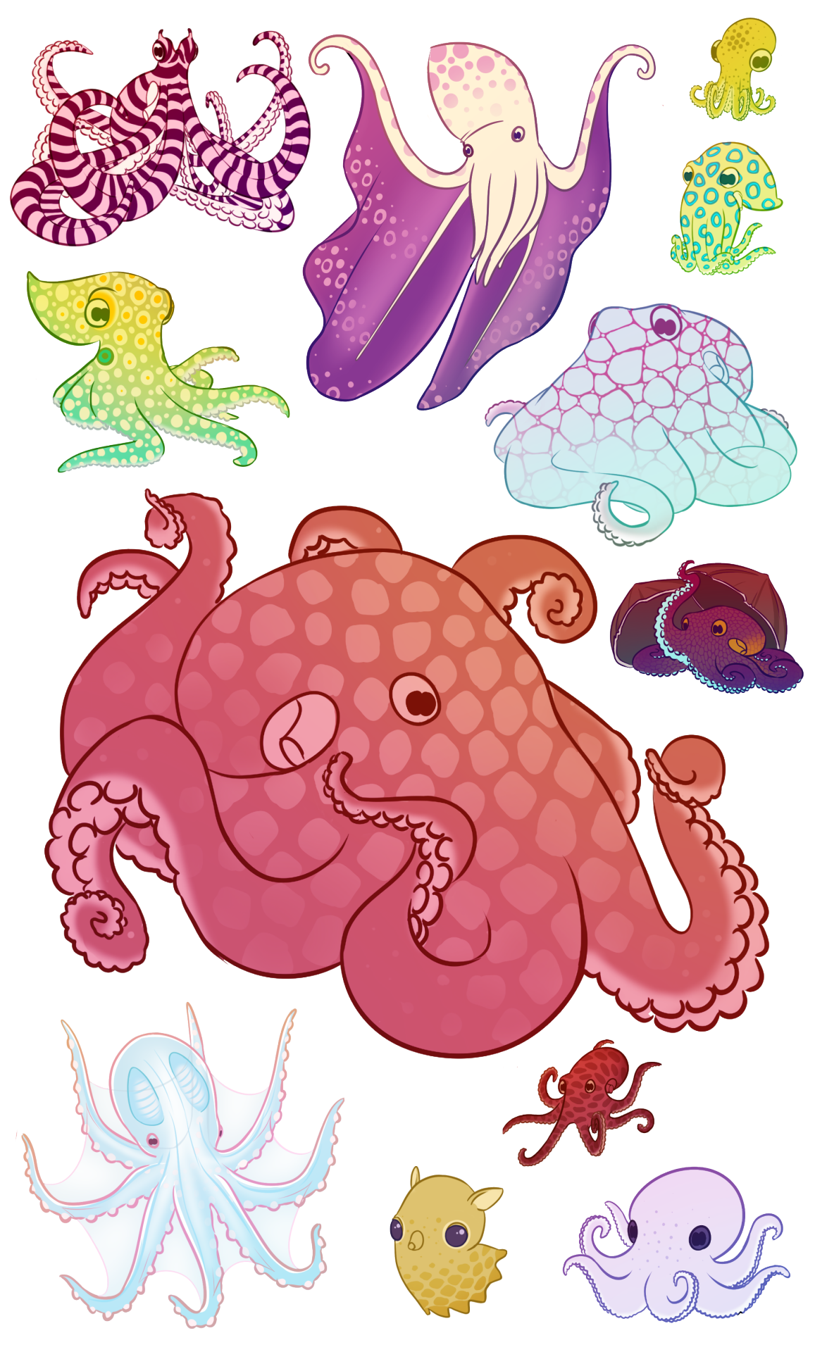 As a marine biologist. Clipart octopus mad