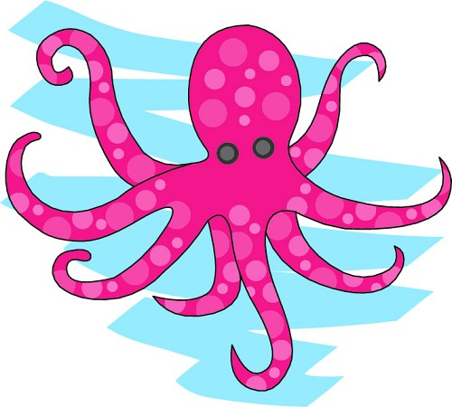 Free pictures of animals. Clipart octopus marine animal