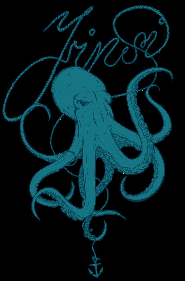 Octopus clipart maroon. The villain of seas