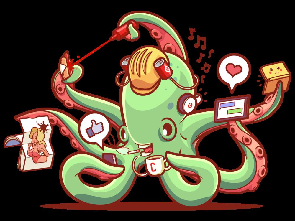 Client portfolio burford through. Octopus clipart maroon