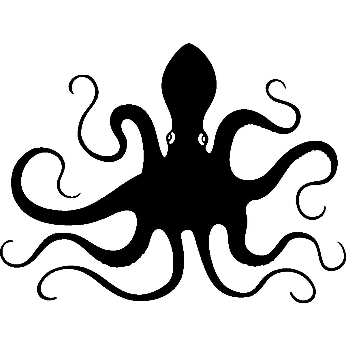 Stickers muraux pour wc. Octopus clipart pieuvre