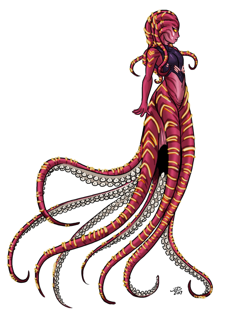 Clipart octopus scary. Young scyleen by prodigyduck
