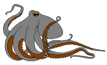 Free page of public. Clipart octopus scary