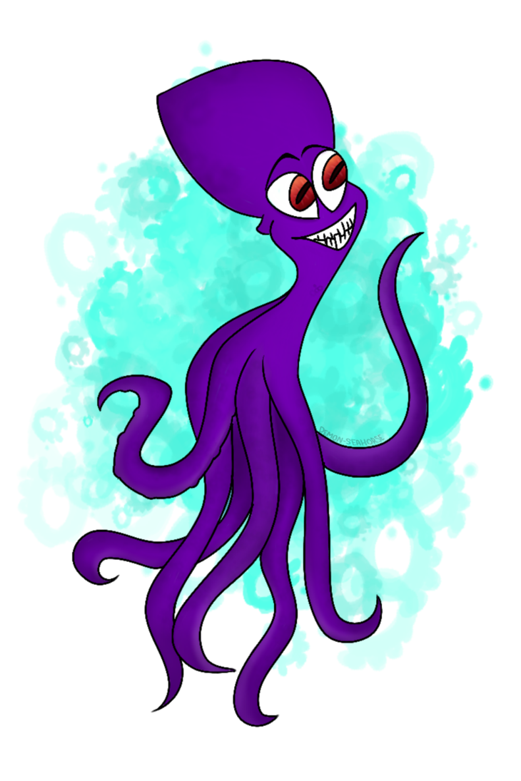 Dave the by demon. Clipart octopus seahorse