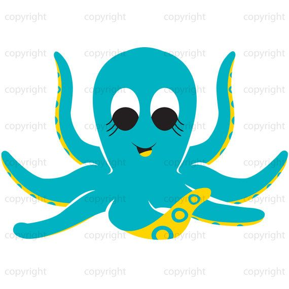 Clipart octopus teal. Pin on baby needs
