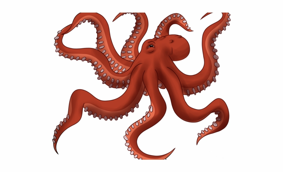 Giant pacific . Clipart octopus transparent background