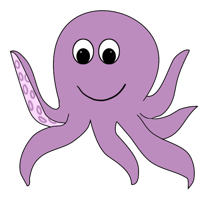 Cute clipart transparent.  collection of octopus