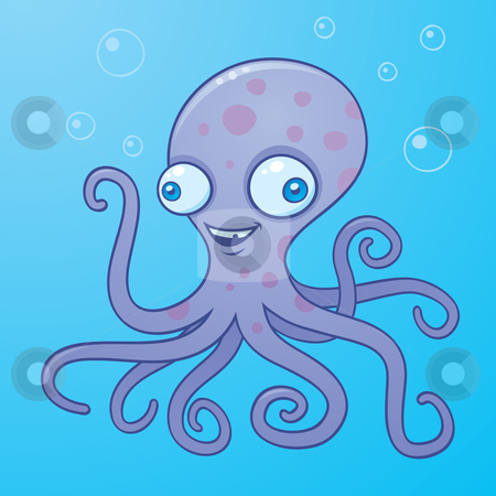 Silly stock vector . Clipart octopus water clipart
