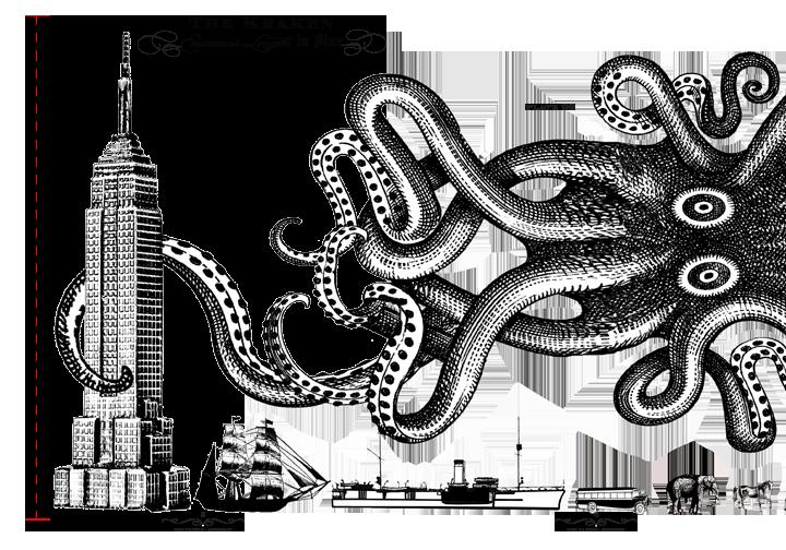 The kraken stranger illustrative. Clipart octopus wiring