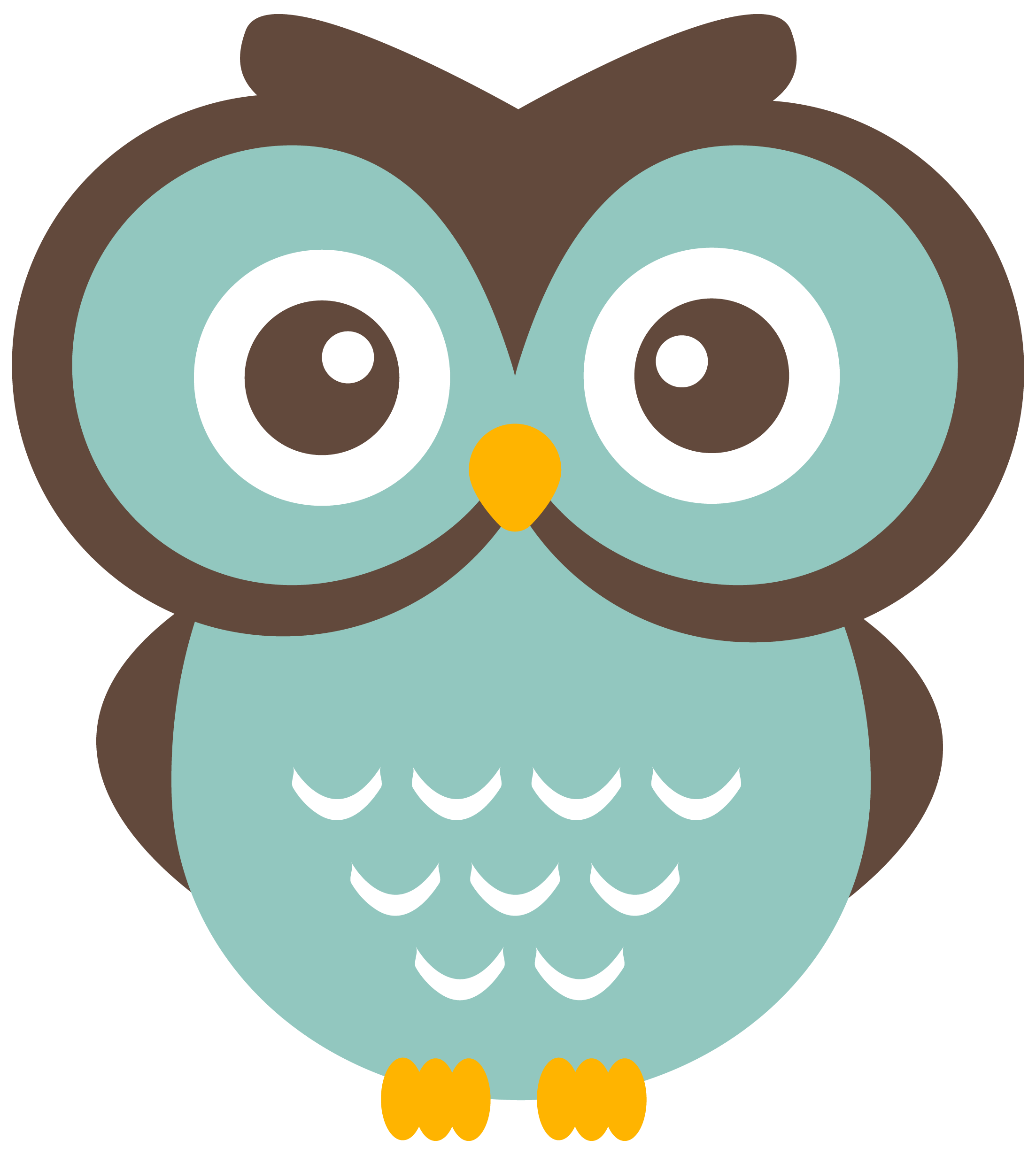Woodland clipart winter. Teal owl