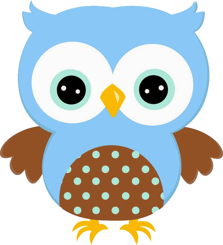 Corujinha azul png pixel. Flowers clipart owl