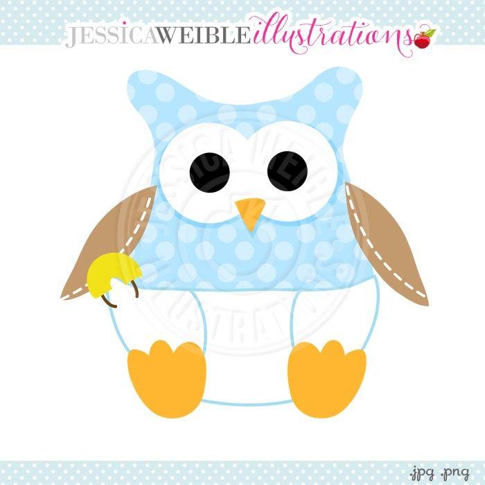 Clipart owl baby boy. Diaper digital jw illustrations