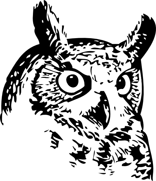 Clipart owl black and white. Great clip art at