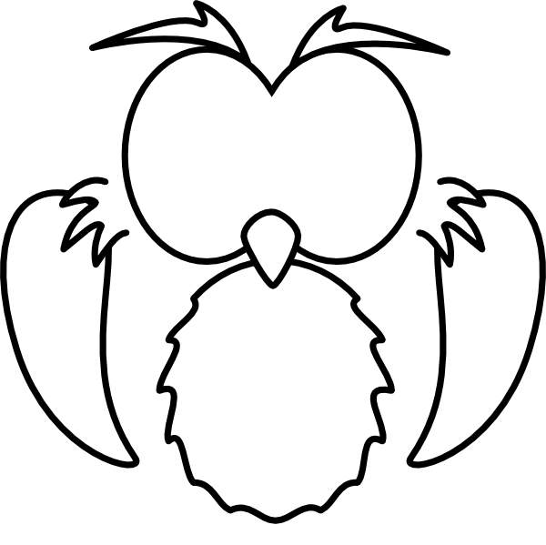Clip art at clker. Clipart owl black and white