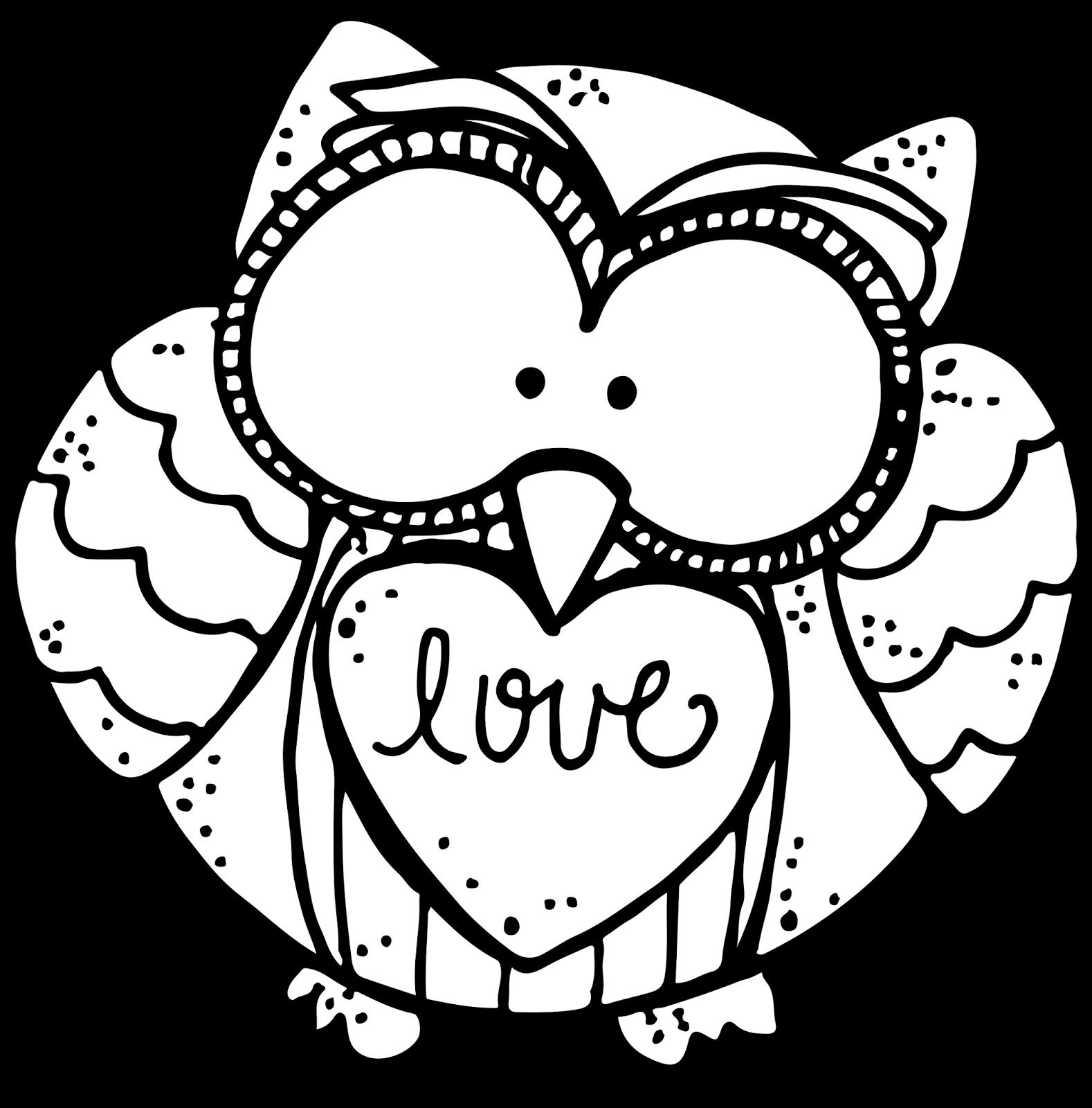 Clipart owl black and white. Melonheadz meet my friend