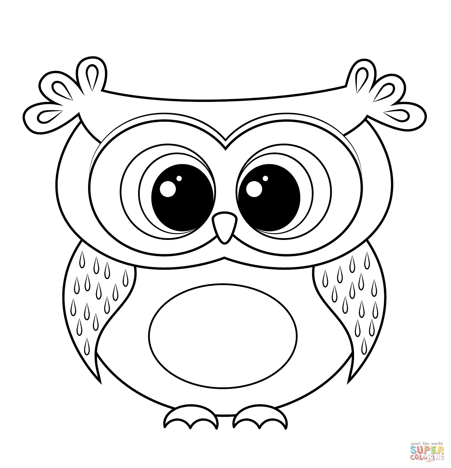 Clipart owl black and white. Coloring pages ideas