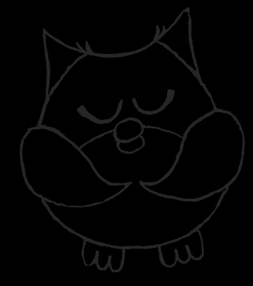 Clipart owl black and white. Night clipartblack com animal
