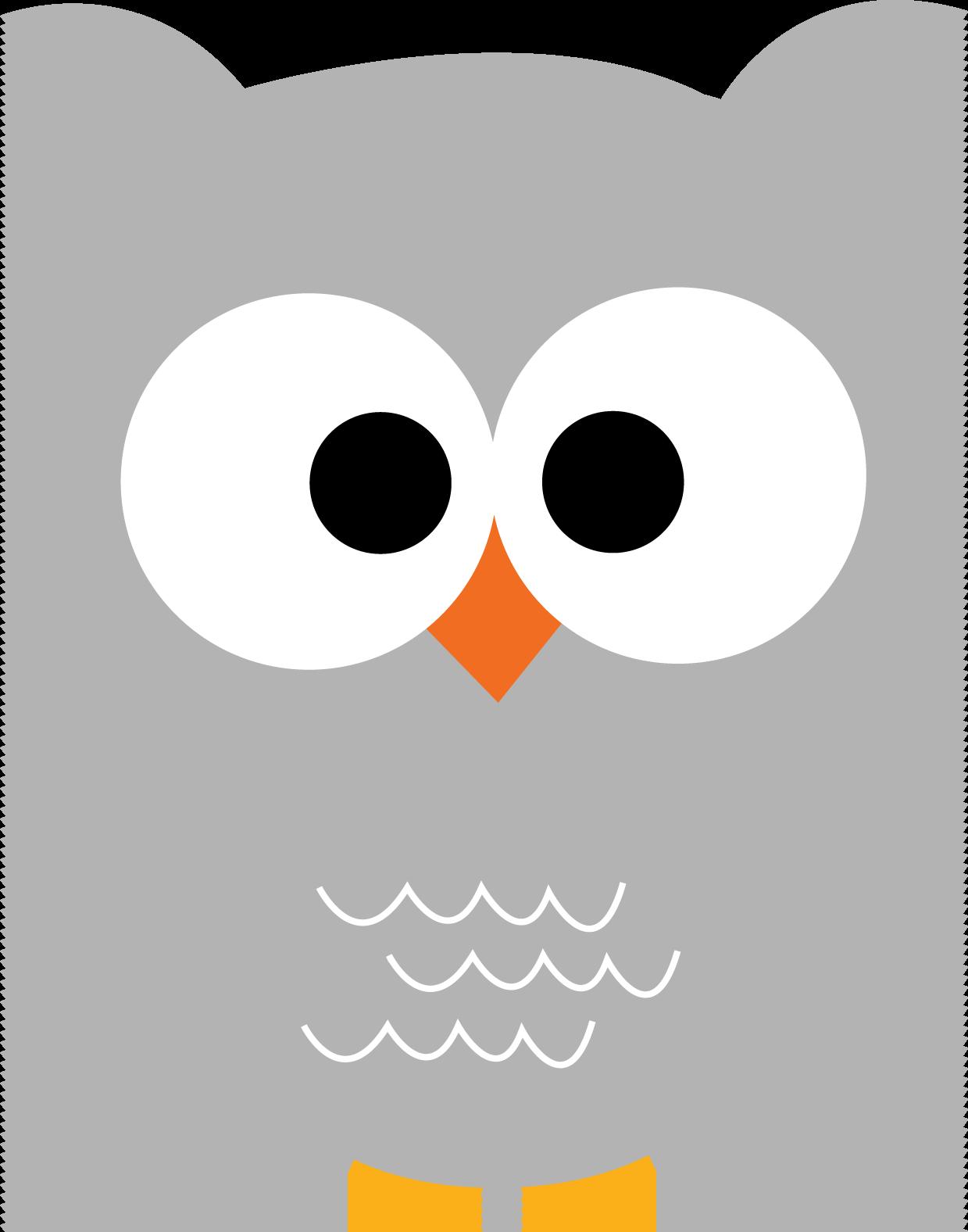 So adorable owl printables. Woodland clipart faces