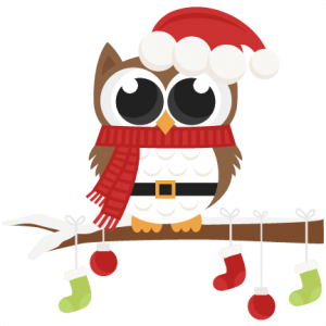 Owls clipart december. Owl