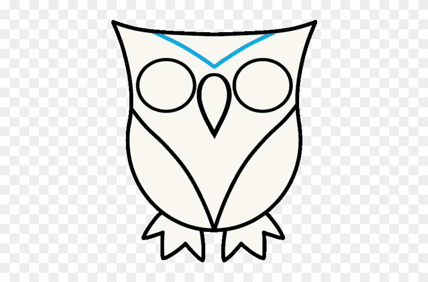 How to draw owl. Owls clipart easy