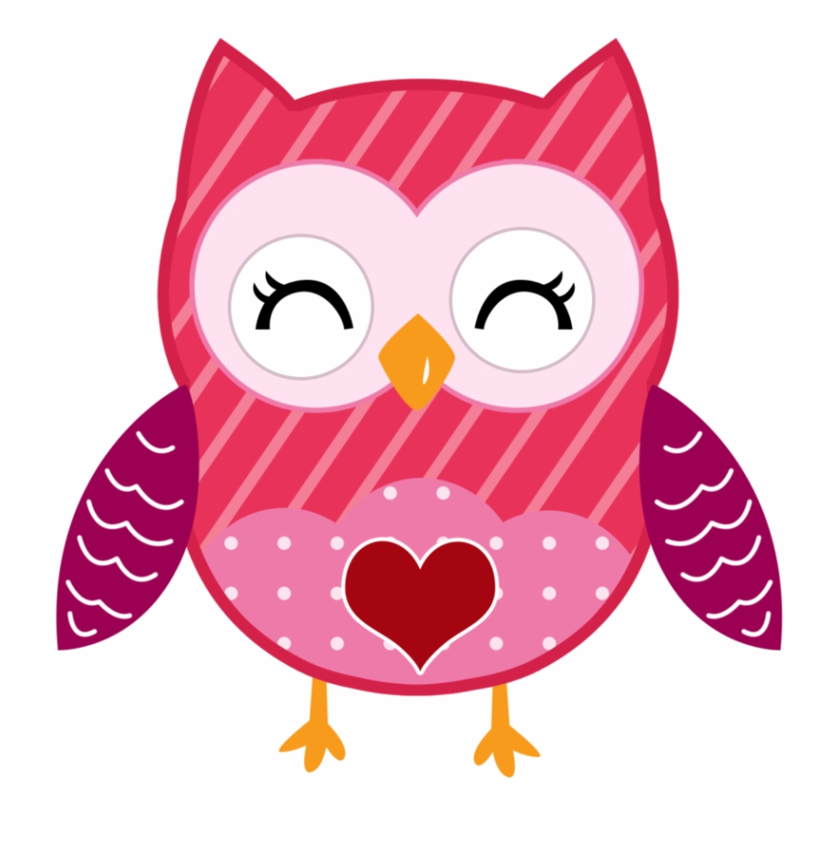 Owls clipart february. Cute colorful owl valentine