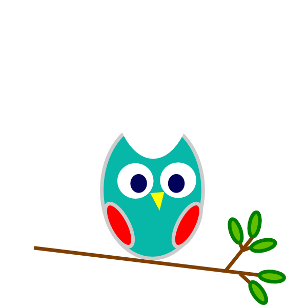 Foot clipart owl. Blue and red clip