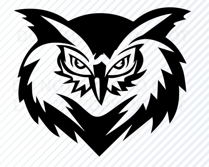 Owls clipart head. Owl svg files clip
