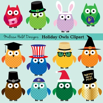 Owl . Owls clipart holiday