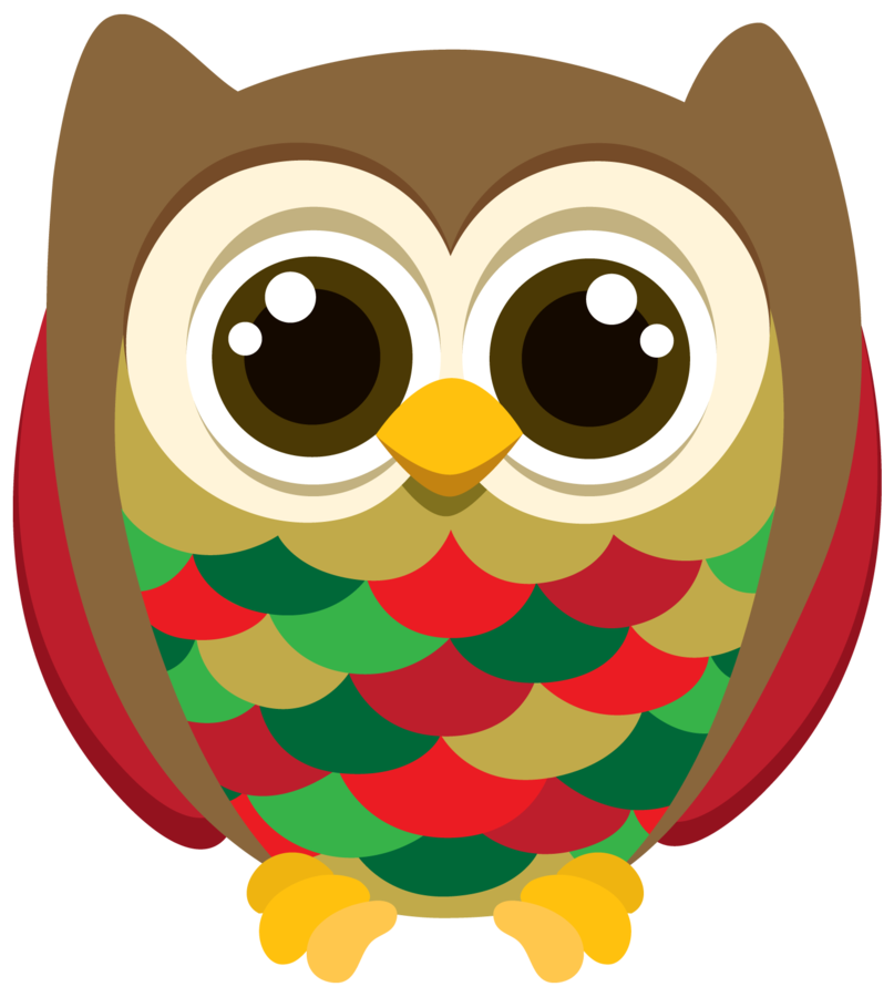 Owls clipart christmas. Owl for kids at
