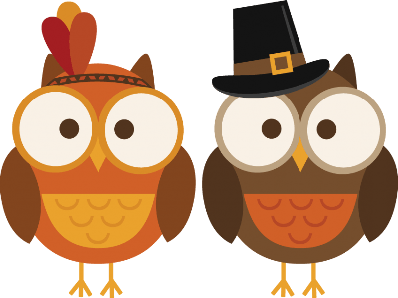 Owls clipart holiday. November owl clipartix