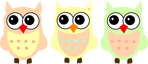 Owls clip art at. Clipart owl pastel