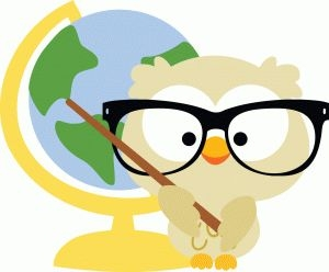 With clip art library. Owl clipart pencil