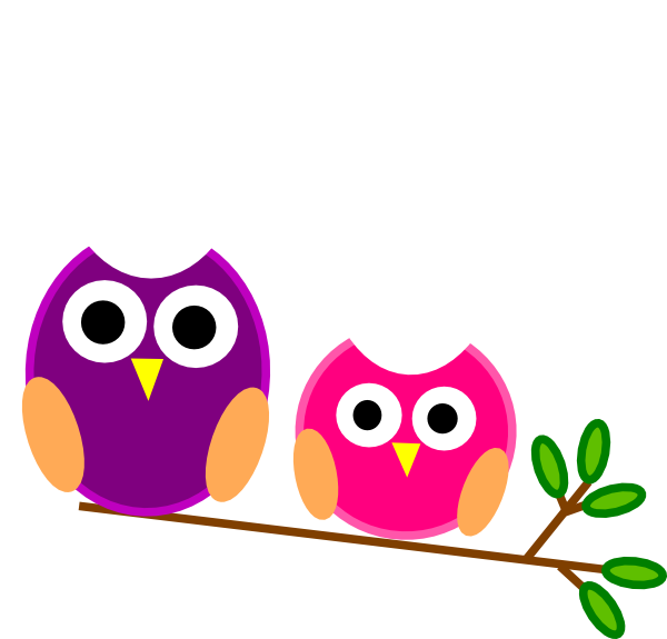 And pink owls clip. Purple clipart owl