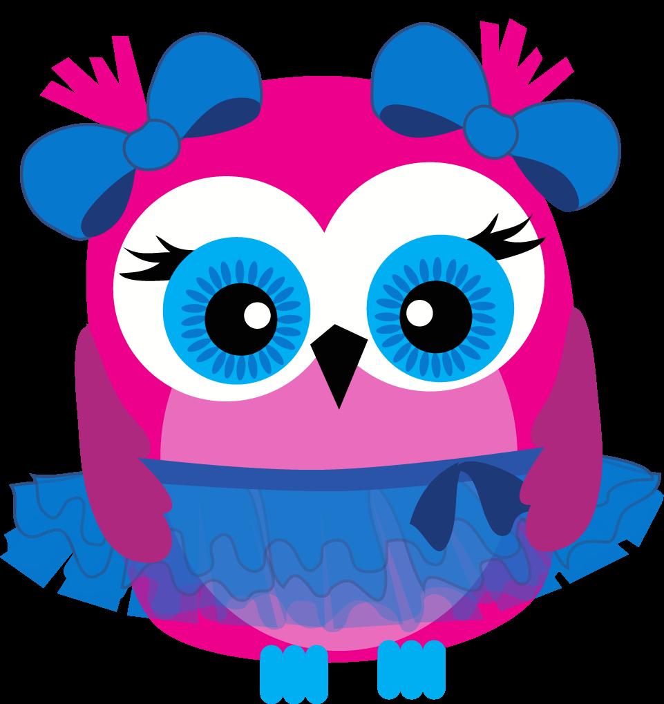 Blue tutu printout girls. Clipart rainbow owl