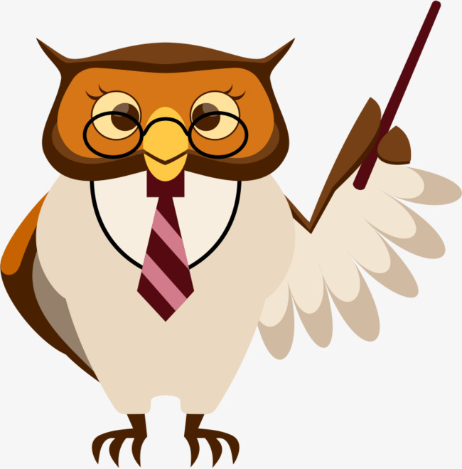 Owl clipart professor. Bespectacled png images pngio