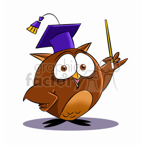 Clipart owl professor. Buho the cartoon royalty