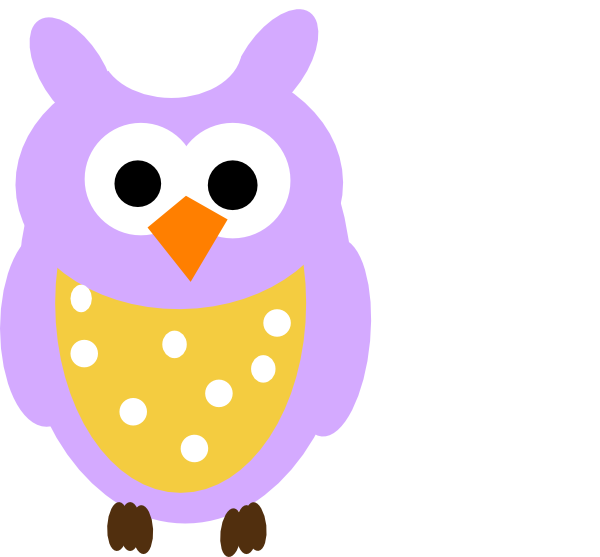 Owl clipart purple. And dots clip art