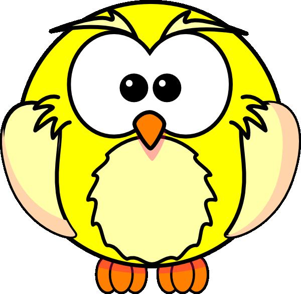 Owls clipart reading. Yellow owl clip art