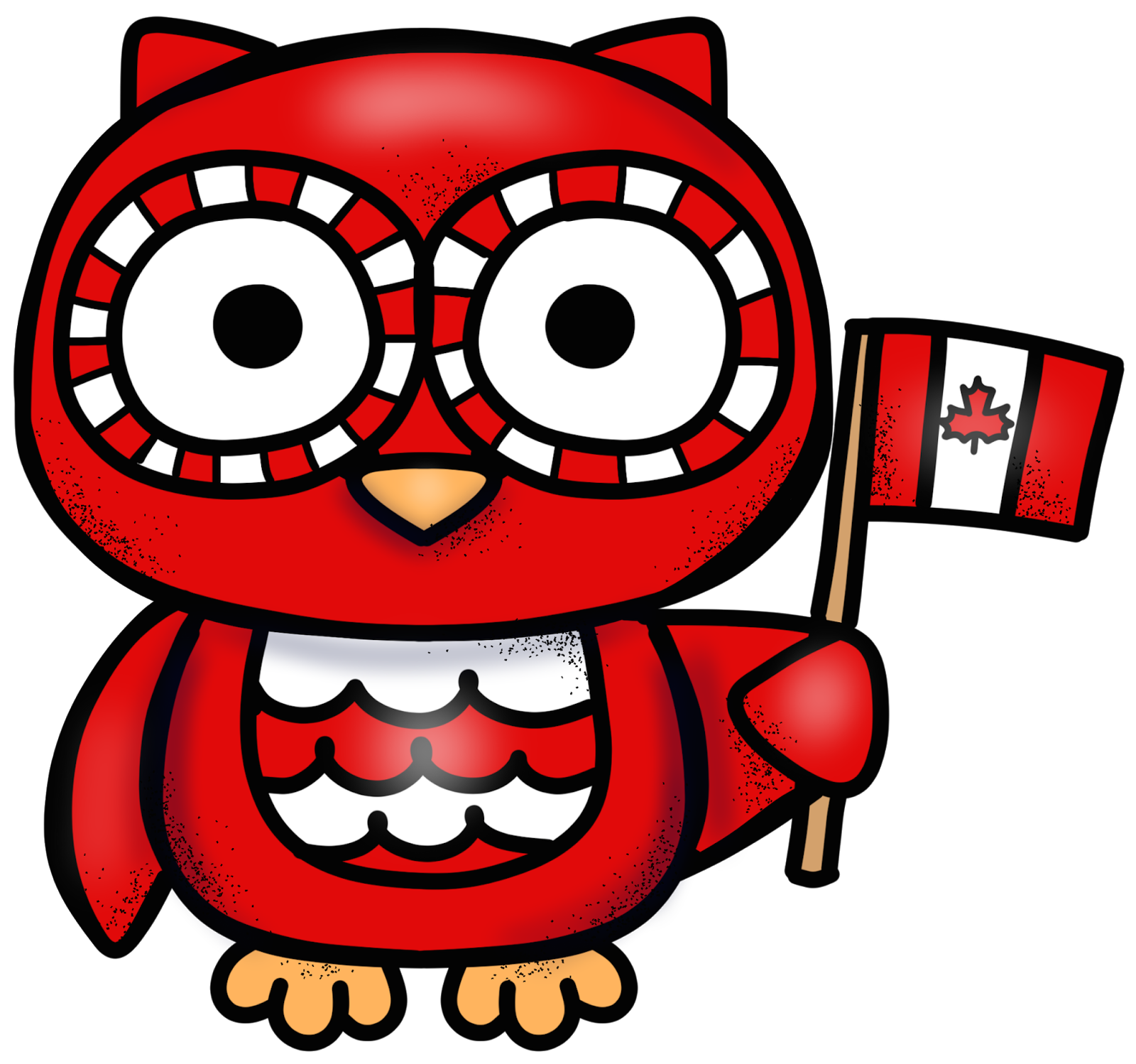 Educlips design freebie canada. Owls clipart red