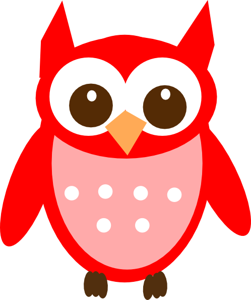 Owl clip art at. Owls clipart red
