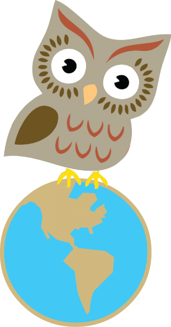 Earth sciences maps workshops. Scientist clipart owl